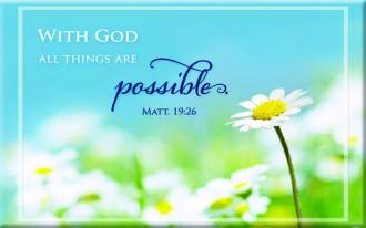 MG 161 Magnet With God everything is possible